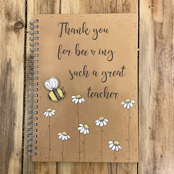 Handmade Notebook with Little Daisies - Bee-ing a Great Teacher  9994