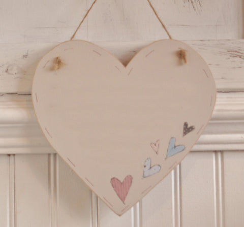 Large Heart with painted hearts 3779