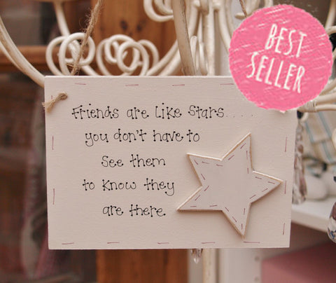 Picture Plaque - Friends are like stars 3798