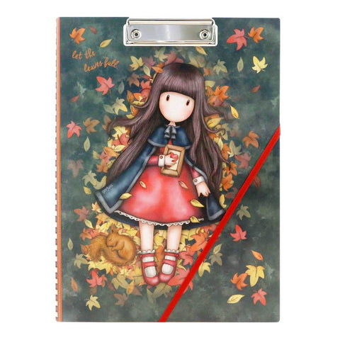 Gorjuss Autumn Leaves - Clip Folio with Pad 10481