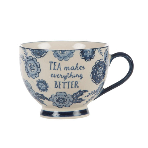 Floral Mug - Blue Willow 7168