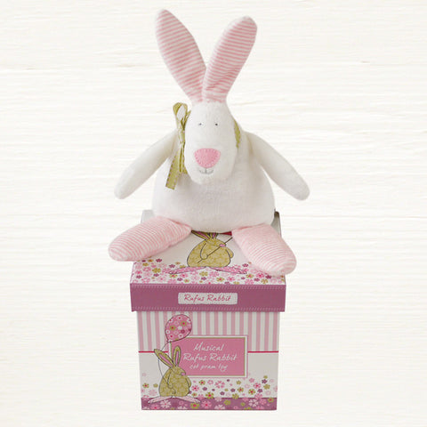 Rufus Rabbit Musical Toy/Cot Toy - Girl 3823