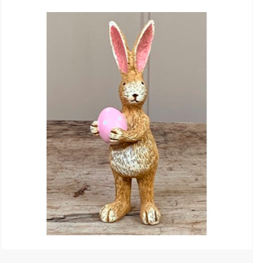 Standing Rabbit with Pink Egg 10851