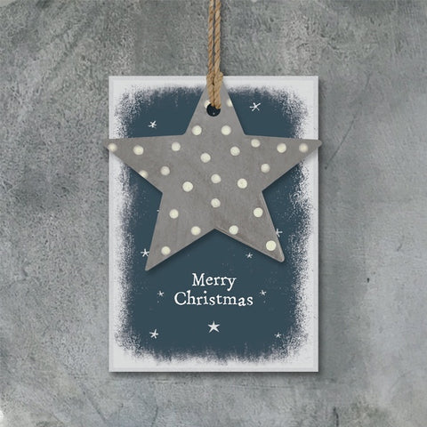 Dotty Star Tag - Merry Christmas 10586
