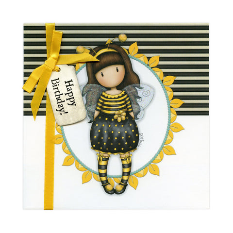 Gorjuss Greetings Card - Bee-Loved Happy Birthday! 8955