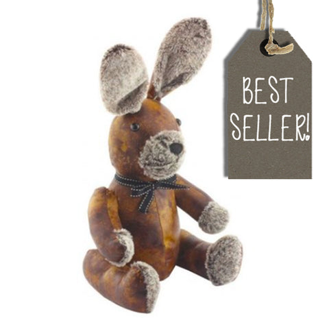 Rabbit Doorstop in Faux Leather 9478