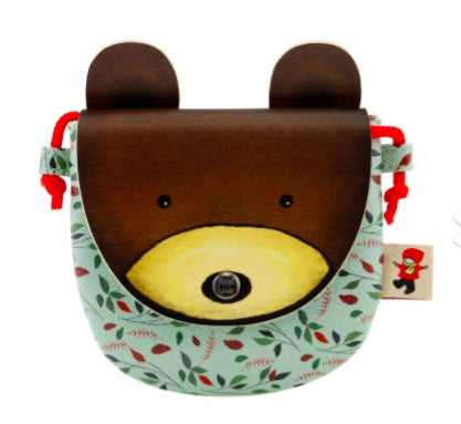 Poppi Loves Animal Purse - Bear 8114