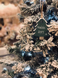 Wooden Personalised Christmas Tree Plaque - Green 4037