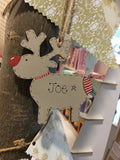Reindeer Personalised Christmas Plaque 4041