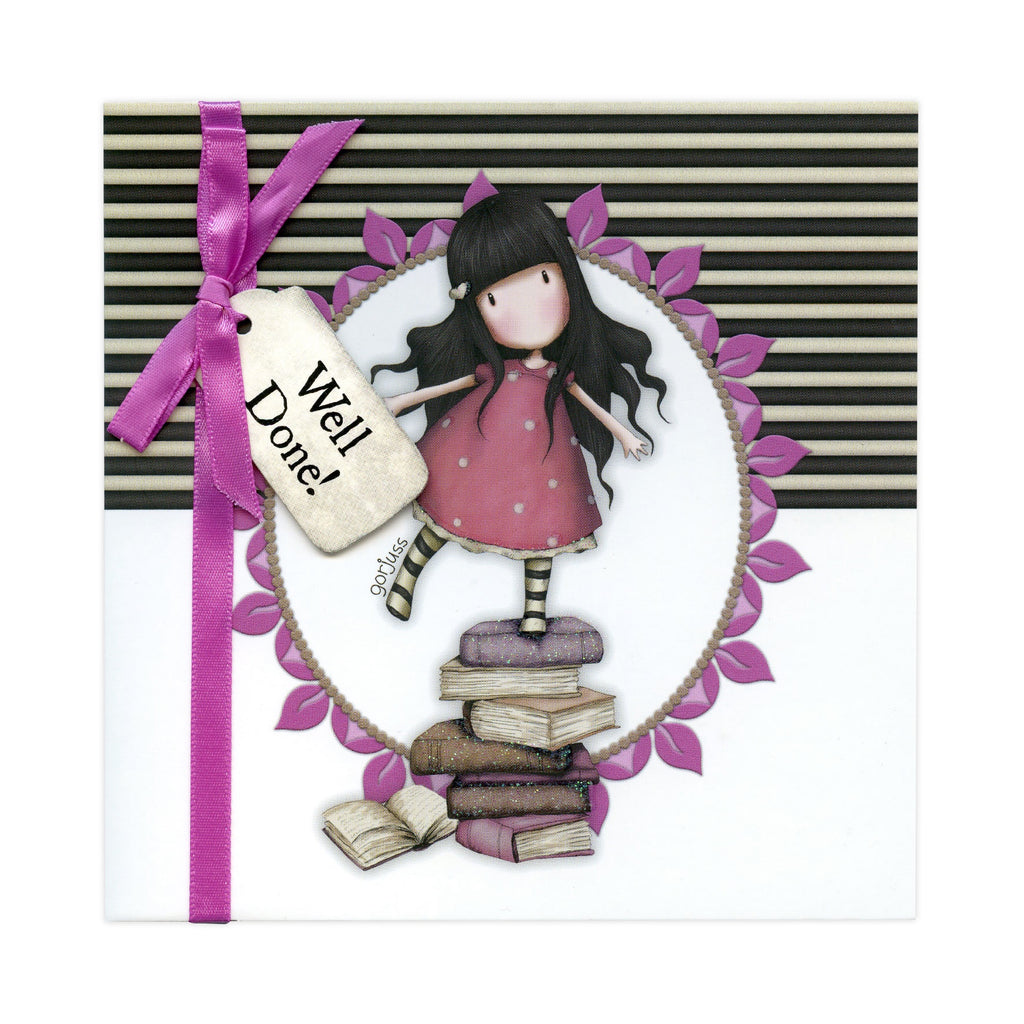 Gorjuss Greetings Card - New Heights well Done 8957