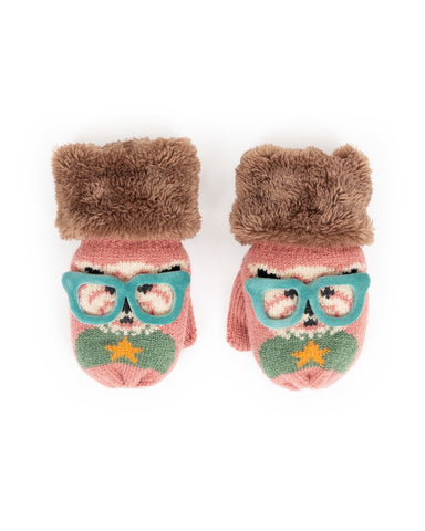 Powder Mittens - Cosy Kids Westie in Candy 9191