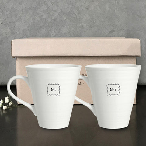 Porcelain Mug - Mr & Mrs Mug Set 946