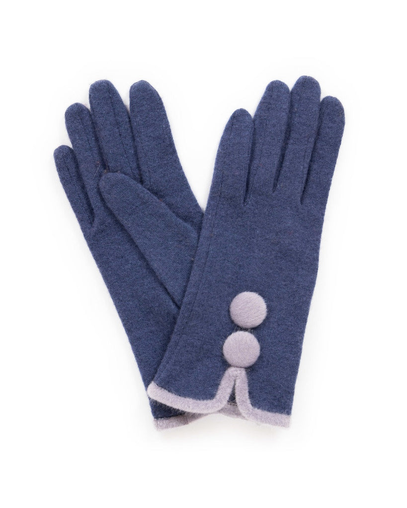 Powder Wool Gloves - Christabel in Navy 9197