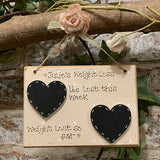 Personalised Square Plaque - Weight Loss 4361