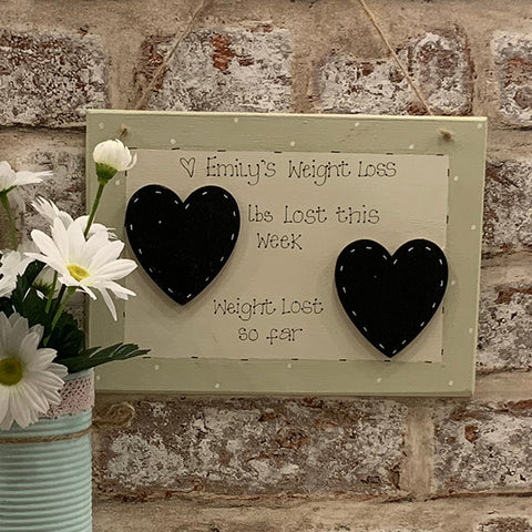 Personalised Xls Square Plaque - Weight Loss 4362