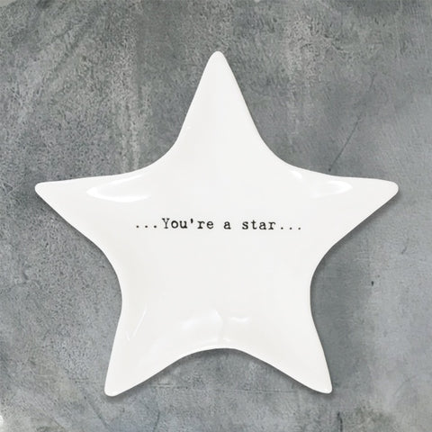 Wobbly Porcelain Star Dish - You're a Star 10219