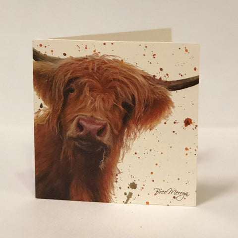 Bree Merryn Greetings Card - Highland Cow 9483