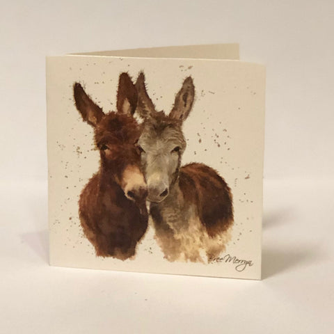 Bree Merryn Greetings Card - Donkeys 9485