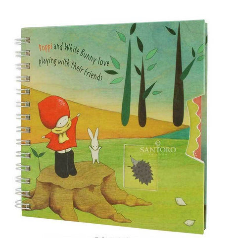 Poppy Loves Wirobound Notebook Catching Leaves 6271