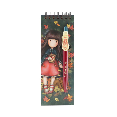 Gorjuss Autumn Leaves - Jotter Pad with Pen 9667