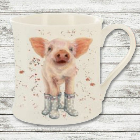Bree Merryn Penelope the Piglet in Booties Mug 9494