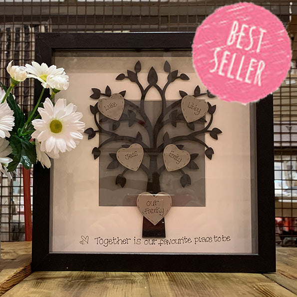 Personalised Family Tree Sm in Black Frame 4798