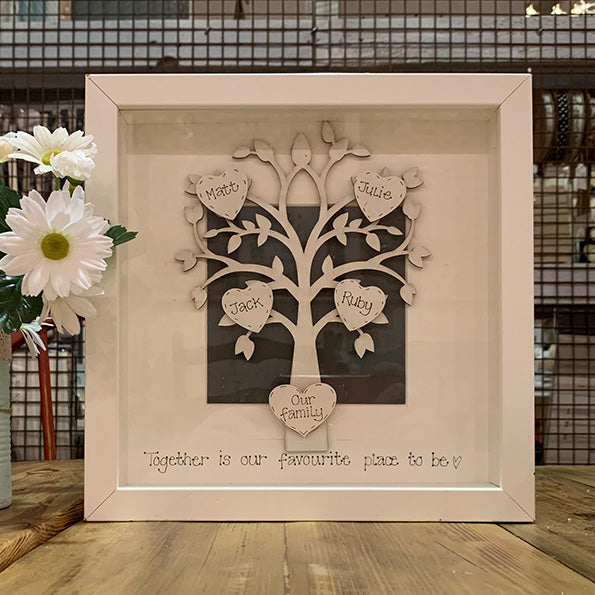 Personalised Family Tree In Md White Frame Oopsy Daisies