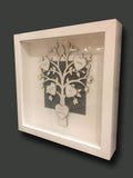 Personalised Family Tree in Sm White Frame 4799