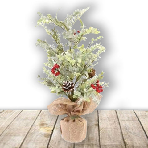 Hessian Bag Berry Foliage 60cm 10439