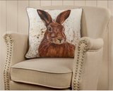 Hare Splatter Cushion 9699