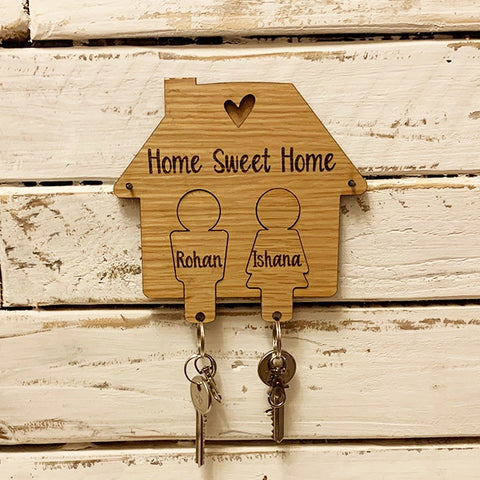 Personalised House Keyring Holder - People 9556