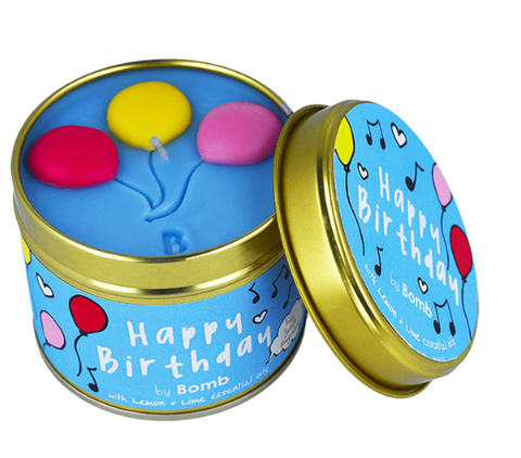 Candle Tin - Happy Birthday 9749