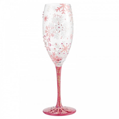 Prosecco Glass - Blushing Snowflakes 9505