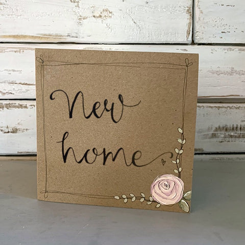 Handmade Rose Card - New Home 9884