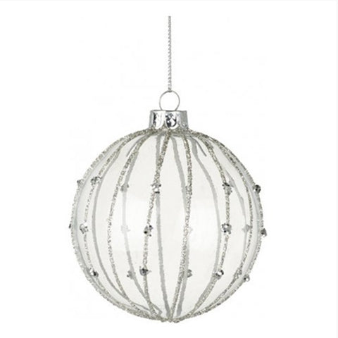 Christmas Bauble - Glitter Striped 10457