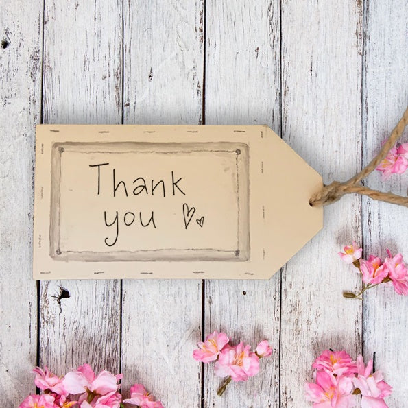 Handmade Wooden Gift Tag - Thank You 9868