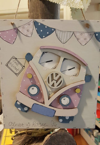 Personalised Camper van Plaque 504