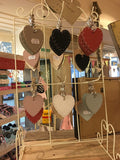 6cm Single Heart with Keyring 5143