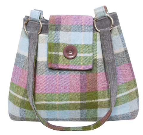 Earth Squared Tweed Ava Bag - Forest Flower 10155