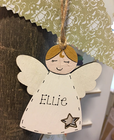 Wooden Personalised Angel 5273