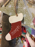 Sm Wooden Personalised Christmas Stocking - 5274