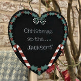 Lg Personalised Christmas Heart with Holly 5424