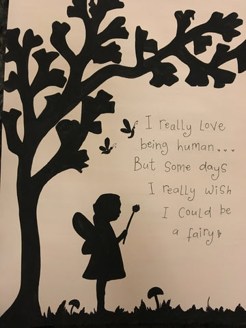 Silhouette with Tree in Lg Frame - Fairy 5510