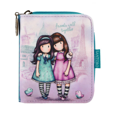 Gorjuss Cityscape Folding Wallet - Friends Walk Together 7569