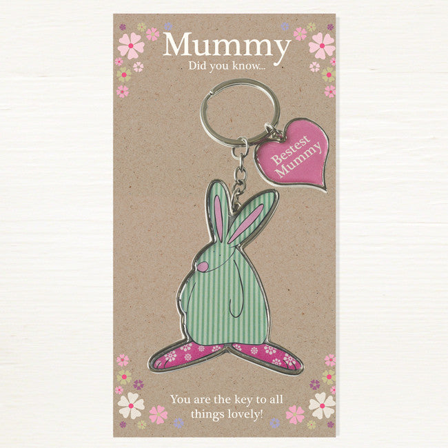 Rufus Rabbit Bestest Mummy Keyring 2814