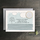 Stitchery Card - If You Lived to be a Hundred 9604