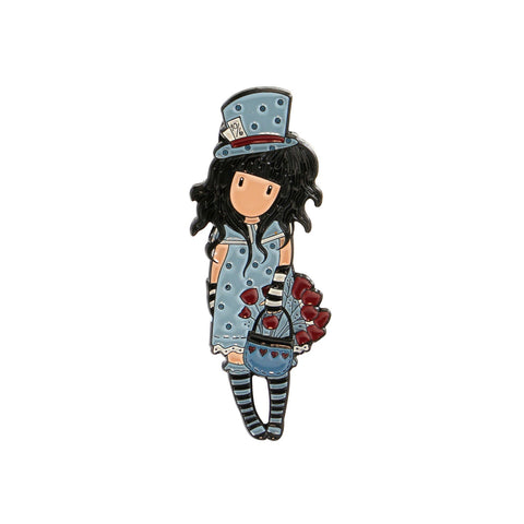 Gorjuss Enamel Pin - The Hatter 7591