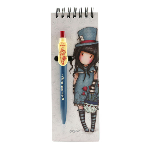 Gorjuss Jotter Pad with Pen - The Hatter 8108