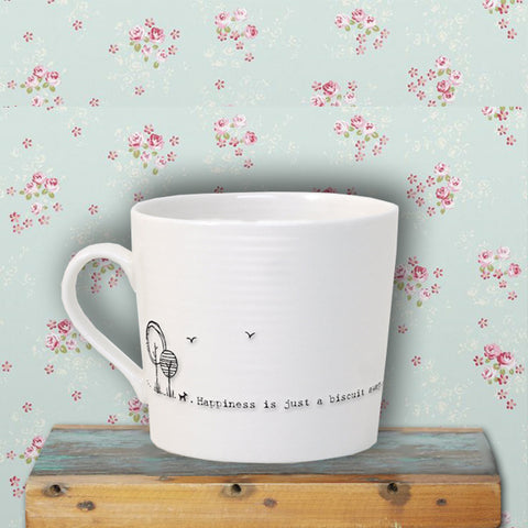 Porcelain Wobbly Mug - Biscuit Away 6642