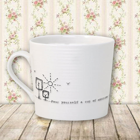 Porcelain Wobbly Mug - Cup of Ambition 10214